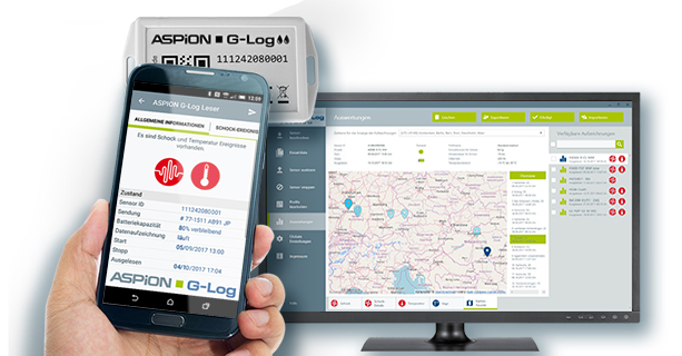 Clouddienst ASPION G-Log Premium mit Ortungsinformation